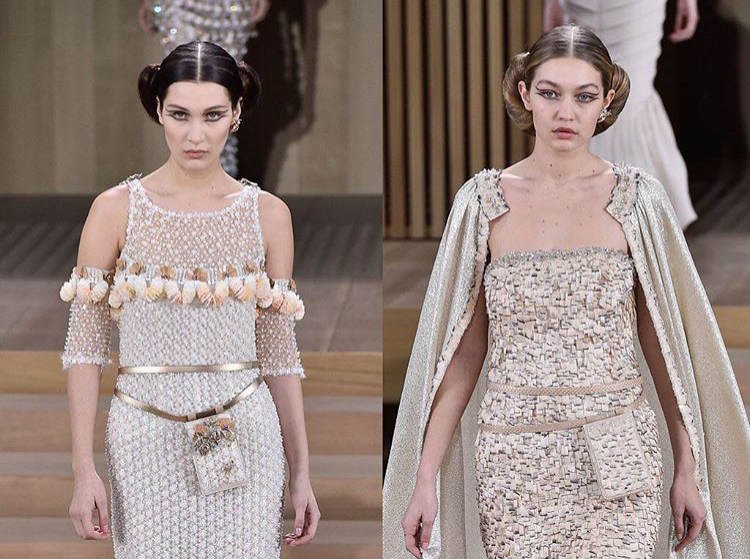BELLA & GIGI HADID FOR CHANEL COUTURE