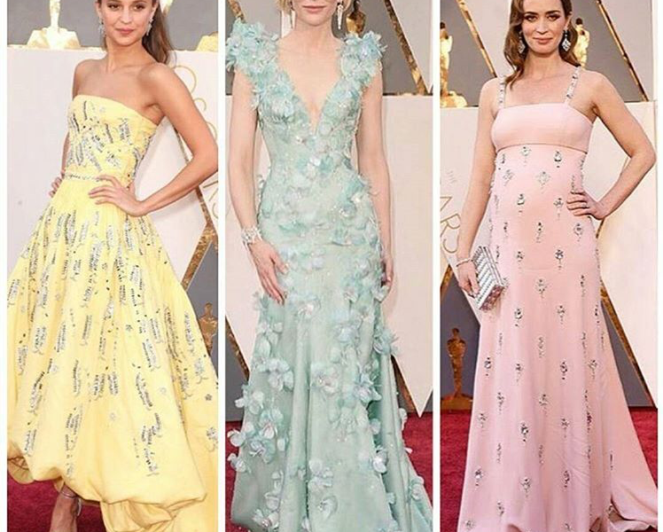 PASTEL COLORS AT THE OSCARS 2016