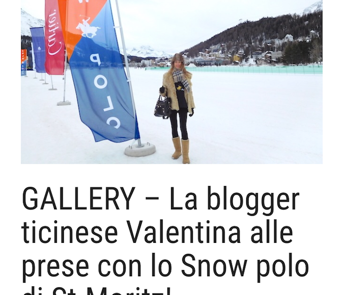 Blogueuse de mode au Snow-Polo à St.Moritz – Mattinonline.ch