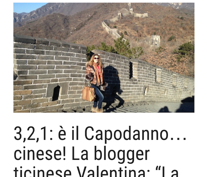Swiss blogger Valentina tells her experience in China to Mattinonline.ch