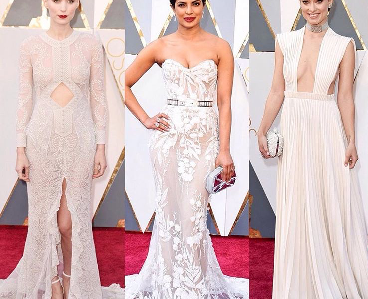 WHITE & CREAM DRESSES AT THE OSCARS 2016