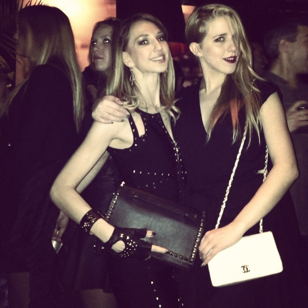 Valentina Nessi with polish blogger Jessica Mercedes Kirshner of Jemerced