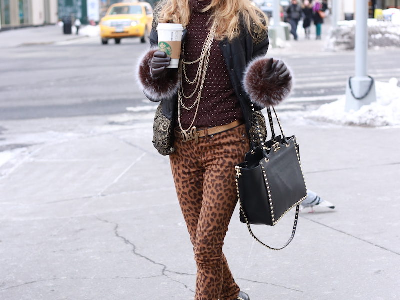 NYFW STREET STYLE CON TOCCO LEOPARDATO