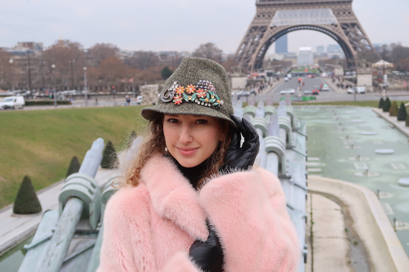 valentina-nessi-pink-fur-the-closet-by-karina-valdes-luxury-hat-paris-romance-eiffel-tower