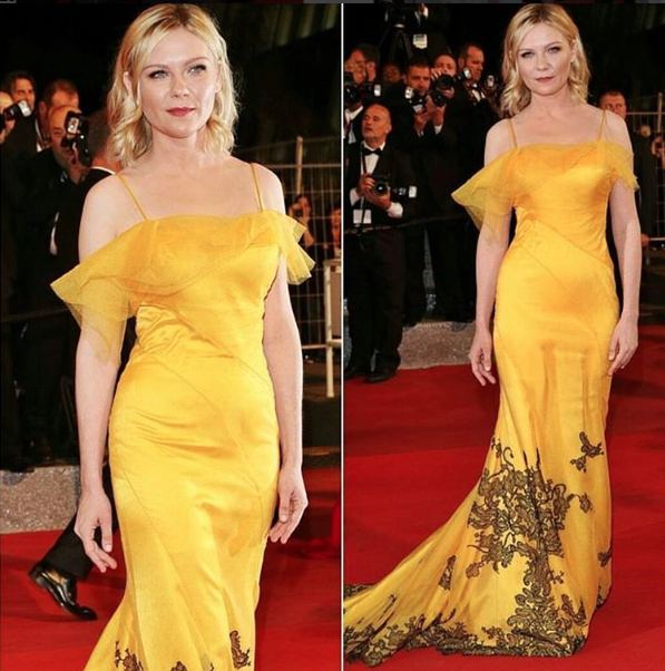 kristen-dunst-yellow-red-carpet-dress-