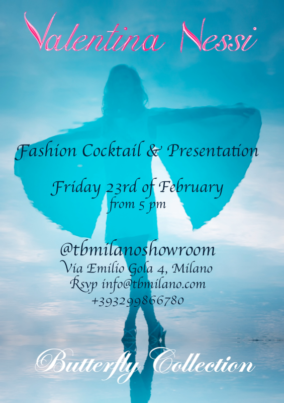 Valentina Nessi butterfly collection presentation Milano fashion week - friday 23rd x Instagram