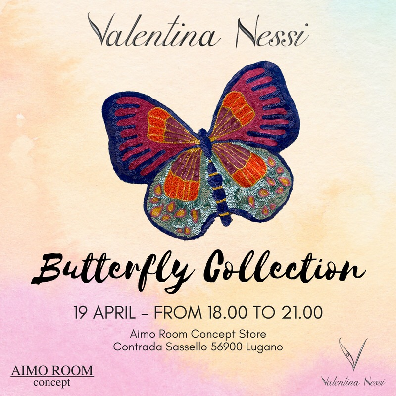 valentina-nessi-butterfly-collection-flyer-event-aimo-room-concept-store-lugano-pink