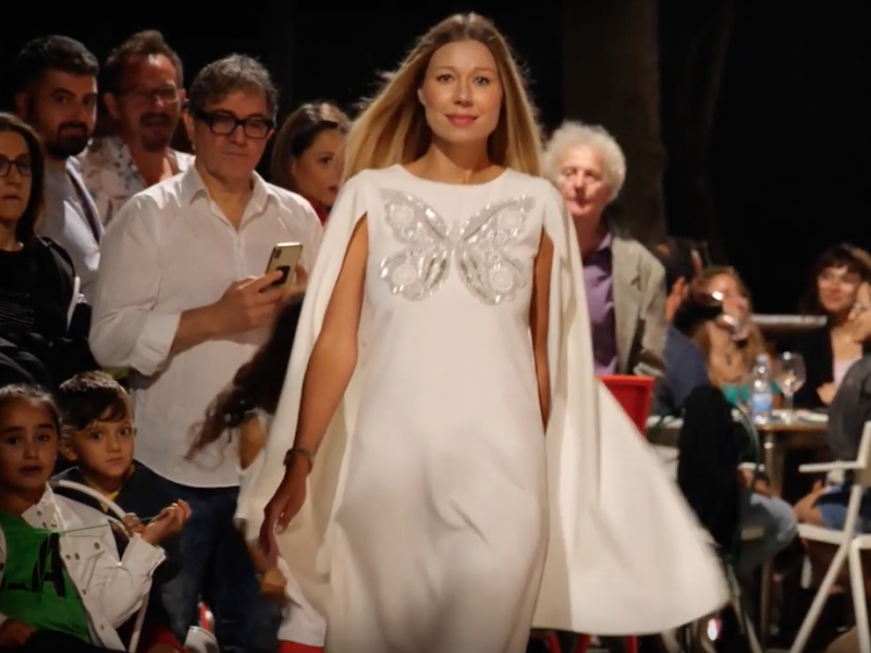 Valentina Nessi Butterfly Collection fashion show at Miss Blumare Umbria