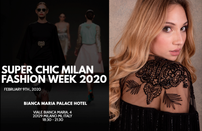 Super Chic Milano fashion week & Women Talent System Valentina Nessi collection