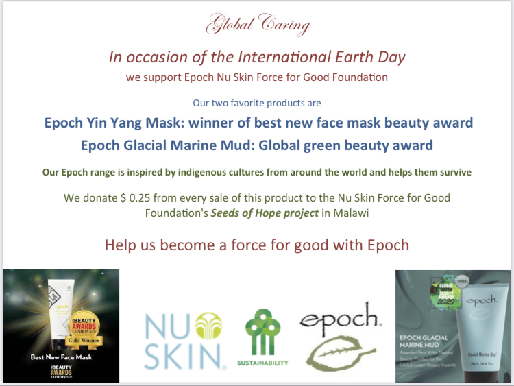 global-caring-in-occasion-of-international-earth-day-support-epoch-nu-skin-force-for-good-foundation