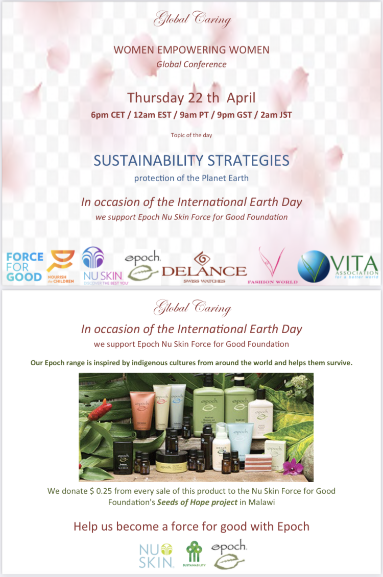 global-caring-presents-sustainability-strategies-for-the-protection-of-planet-earth-in-partnership-with-Epoch-Nu-skin-force-for-good