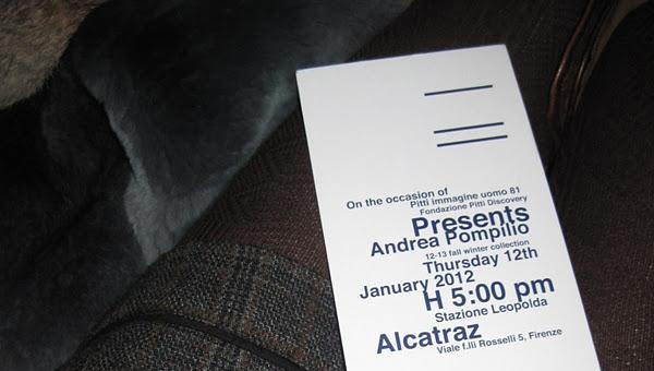 Andrea Pompilio meanswear fashion show