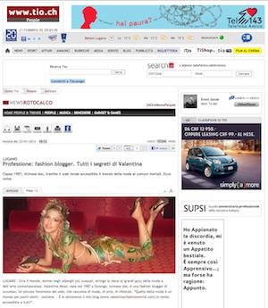 TIO – Professione Fashion Blogger – Janvier 2012