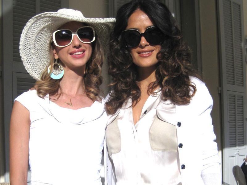 Salma Hayek & I at Eden Roc