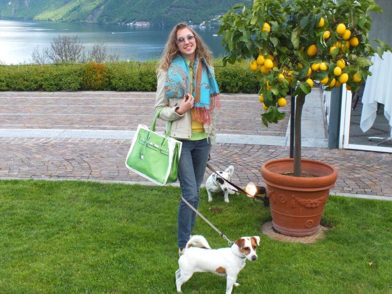 Yellow & Green Outfit and Lugano Lake