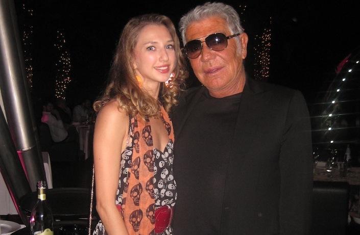 At Just Cavalli Club with Roberto Cavalli