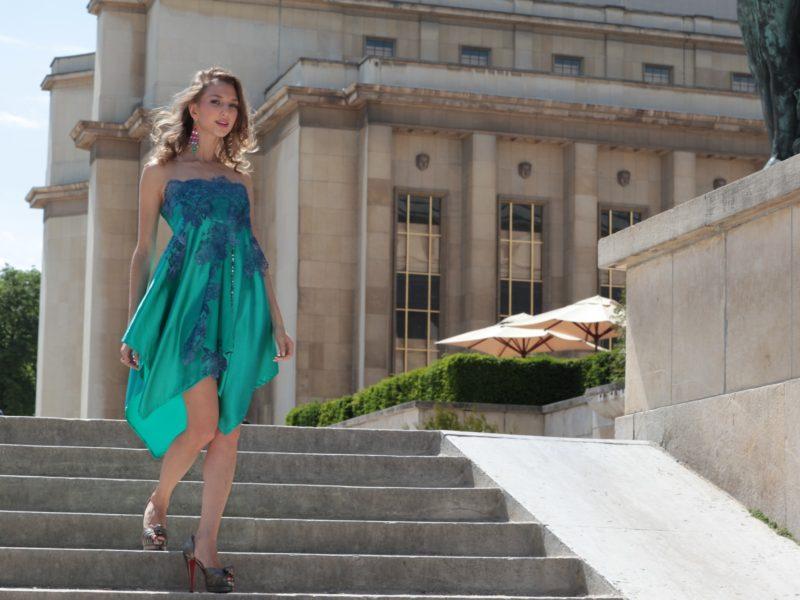 Green Dress photo-shooting