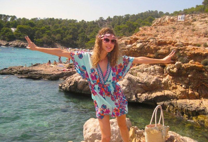 Cala Salada and Sunset at Cafe del Mar Ibiza