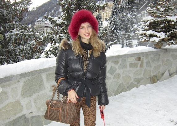 Leopard Print in the Snow