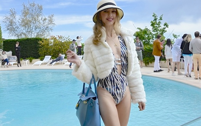 Pool Party Look in Cannes Film Festival