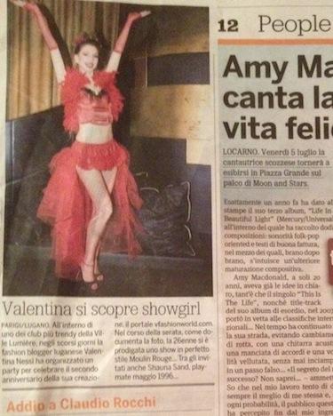 Valentina si scopre showgirl – 20 Minuti – June 2013