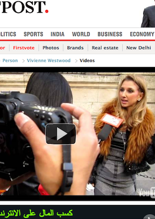 FIRST POST – My Interview with China Fashion TV – April 2013