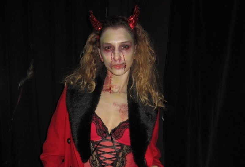 Sexy Devil Zombie comes back to life for Halloween