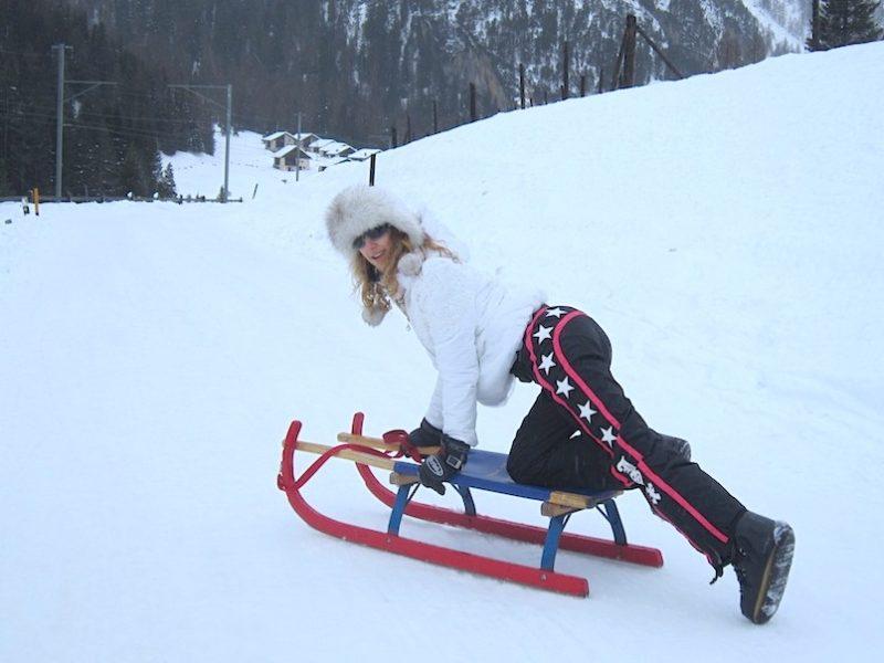Snow Sledging in Bergün