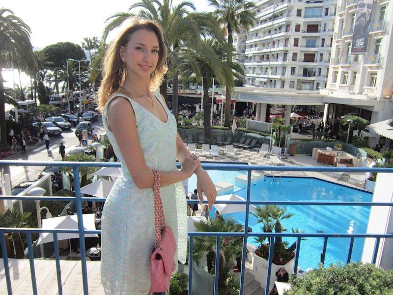 Pastel Mint Diva Dress at Cannes Film Festival