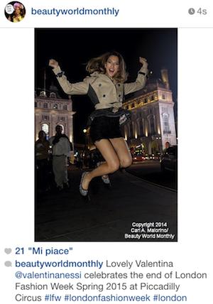 Valentina su Beauty World Monthly