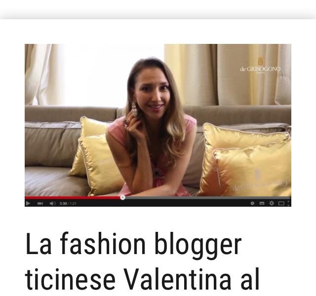 Fashion Blogger Valentina at Cannes Film Festival – Mattinonline – May 2015