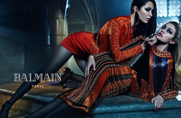 JOAN & ERIKA SMALLS FOR BALMAIN FALL 2015 AD CAMPAIGN