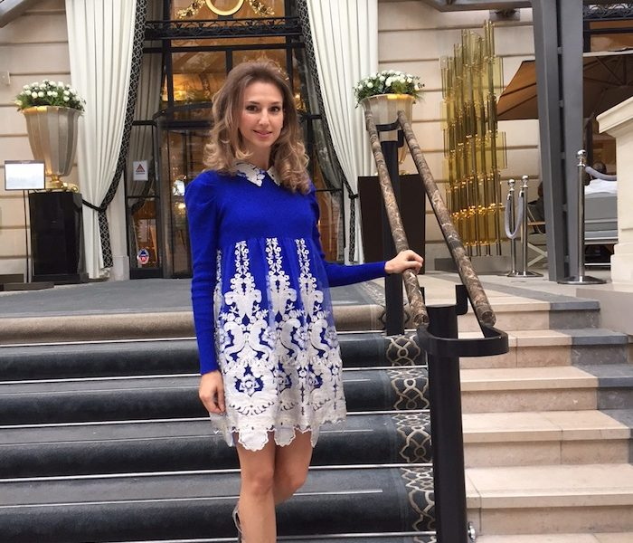 BLUE COUTURE DRESS