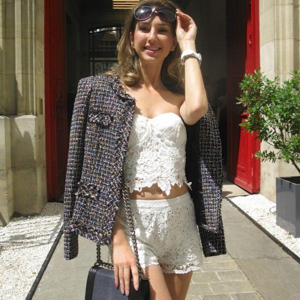 BLANCHE ET BLEU CIEL LOOK IN PARIS