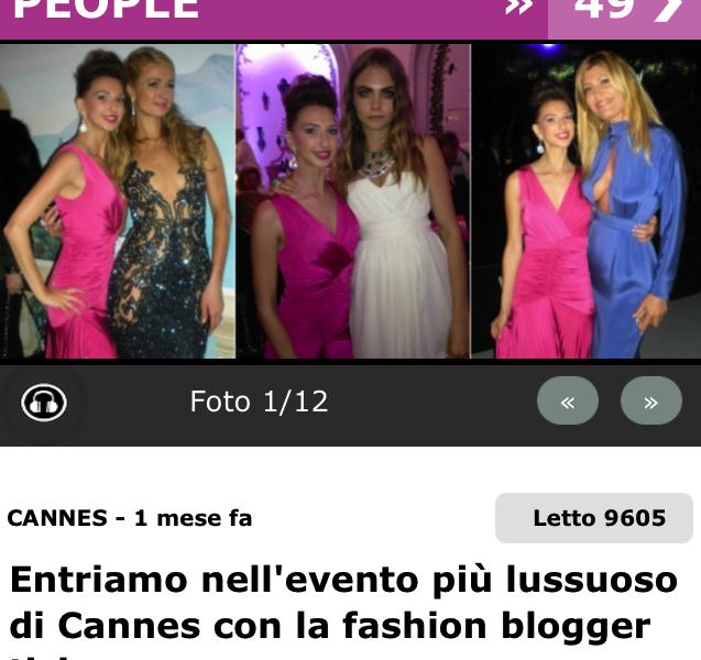 TIO – Entriamo nell'evento più lussuoso di Cannes con la fashion blogger ticinese – May 2015