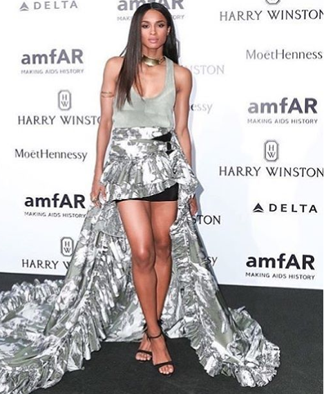 Ciara best dressed à l' amfAR Milano