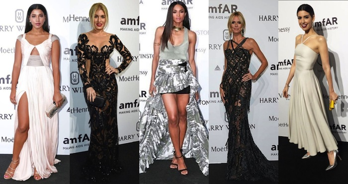 TOP 5 BEST DRESSED A L' AMFAR A MILAN 2015