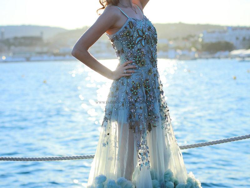 Valentina Nessi per Anjana Misra Haute Couture a Cannes