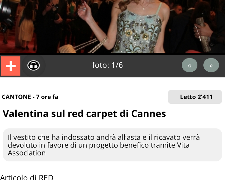 Valentina Nessi on the Red Carpet in Cannes – TIO – May 2016
