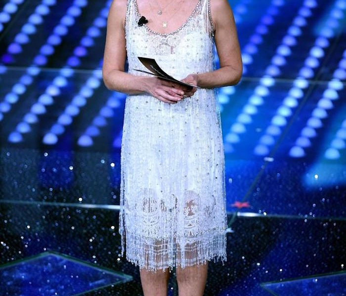 MARIA DE FILIPPI DRESS IN SANREMO 2017