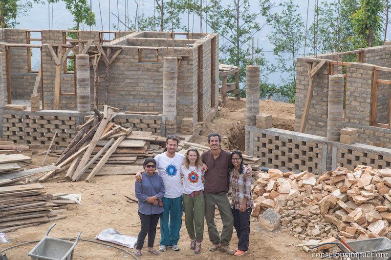 Projet d'orphelinat Vita for Nepal: travaux en cours