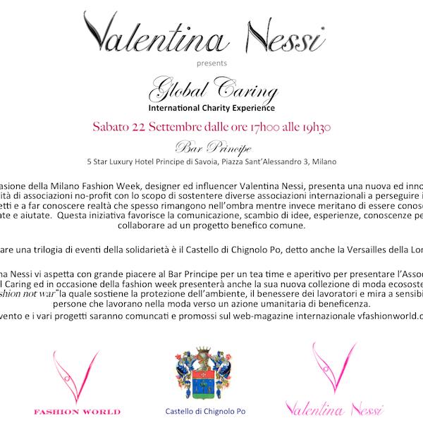 Milano fashion week: Valentina Nessi unisce moda e filantropia
