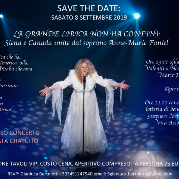 Siena: Fashion, art and opera unite for love and solidarity